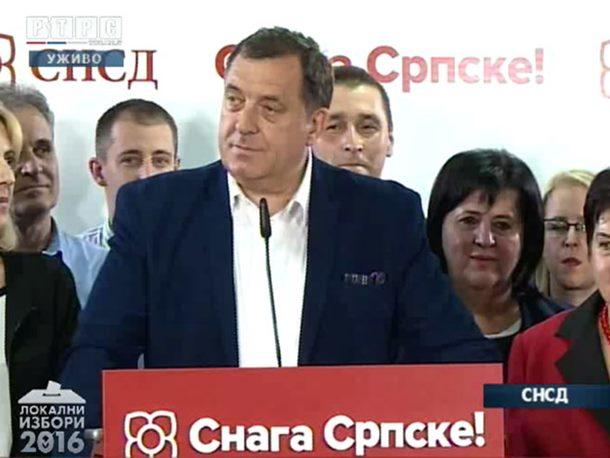 SNSD apsolutni pobjednik lokalnih izbora, vlast osvojili u oko 30 opština Srpske