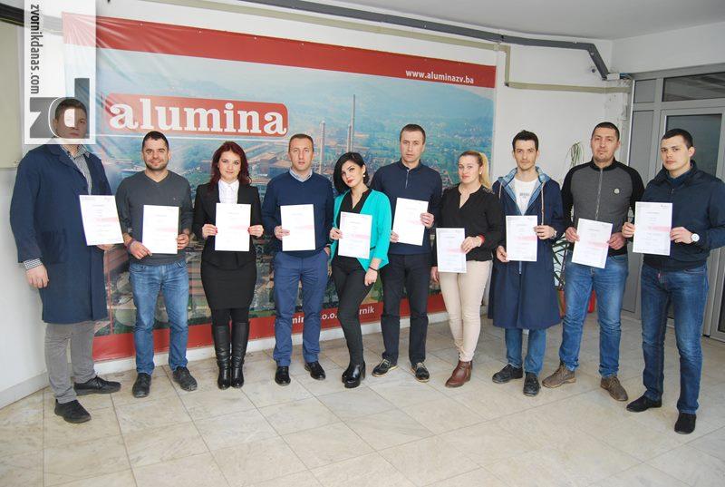 """Photo of Novih 11 internih provjerivača ISO standarda u kompaniji """"Alumina"""""""