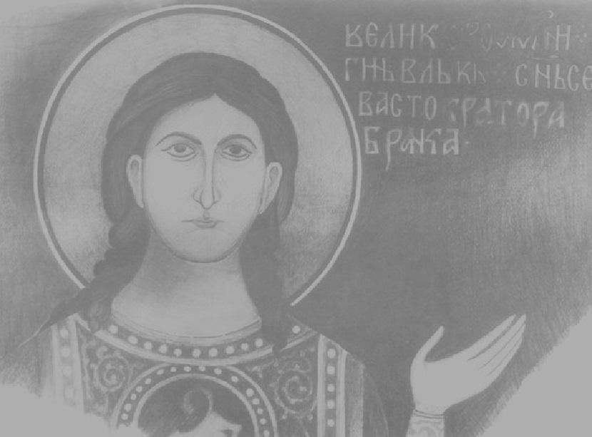 Vuk Branković na fresci. Foto: Wikipedia / MladiFilozof