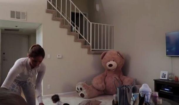 (HIT VIDEO) MEDA JE OŽIVIO! Pogledajte kako je jedan tata nasamario mamu!
