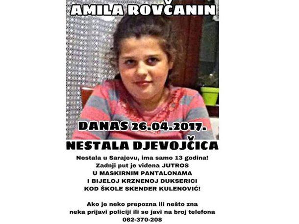 Nestala djevojčica (13) iz Sarajeva, ostavila oproštajno pismo