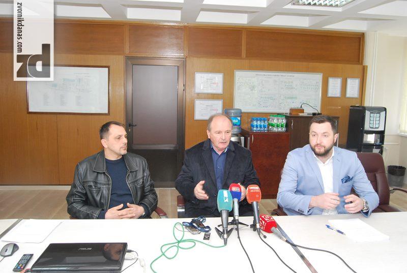 Press konferencija u Alumini - Milorad Motika, Vladimir Milošević i Radenko Smiljanić