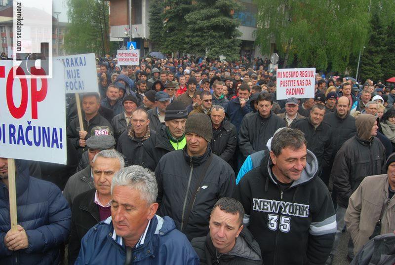 "Photo of Protest radnika ""Alumine"""