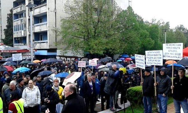 Protest radnika Alumine i Boksita (1)