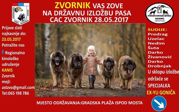 Zvornik domaćin druge izložbe pasa CAC BiH Zvornik