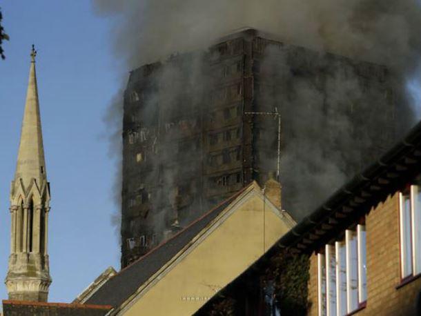 London: Požar