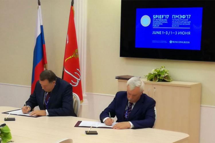 Dodik u Sankt Peterburgu, sa Poltavčenkom potpisan protokol o saradnji