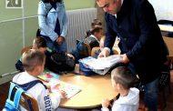 Prvi dan škole sa gradonačelnikom