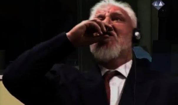 Prekinuto izricanje presude, Praljak popio otrov?