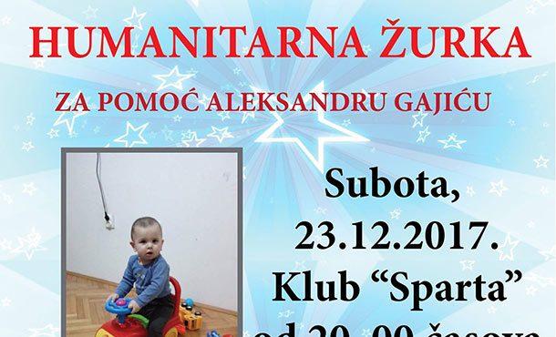 Humanitarna žurka za malog Aleksandra