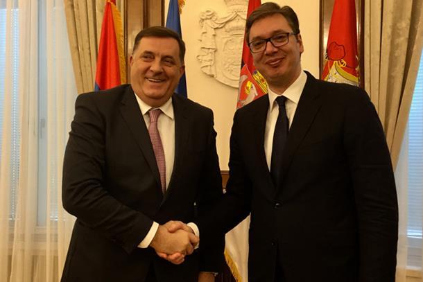 Vučić i Dodik: Što prije otvoriti most 'Bratoljub'