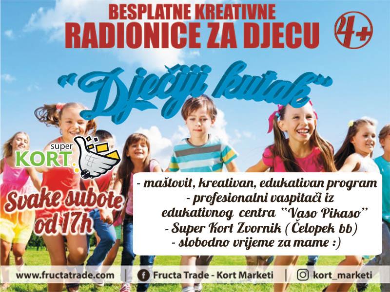 """Photo of Super Kort Zvornik organizuje besplatne dječije kreativne radionice """"Dječiji kutak"""" svake subote"""