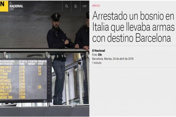 Photo of Državljanin BiH pokušao prebaciti arsenal oružja u Barselonu