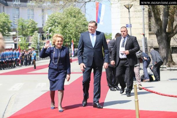 Predsjednica Savjeta federacije Gornjeg doma parlamenta Rusije danas u Banjaluci