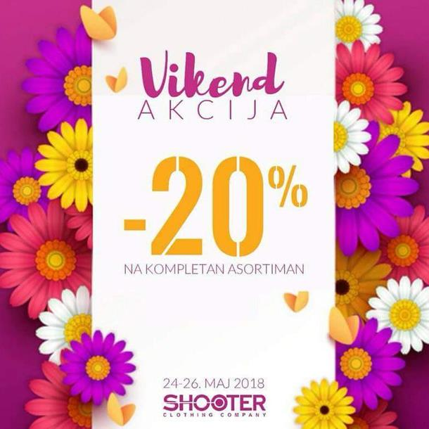 Vikend akcija u butiku Shooter