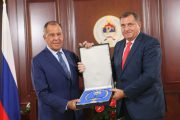 Predsjednik Dodik odlikovao ministra Lavrova Ordenom Republike Srpske na ogrlici
