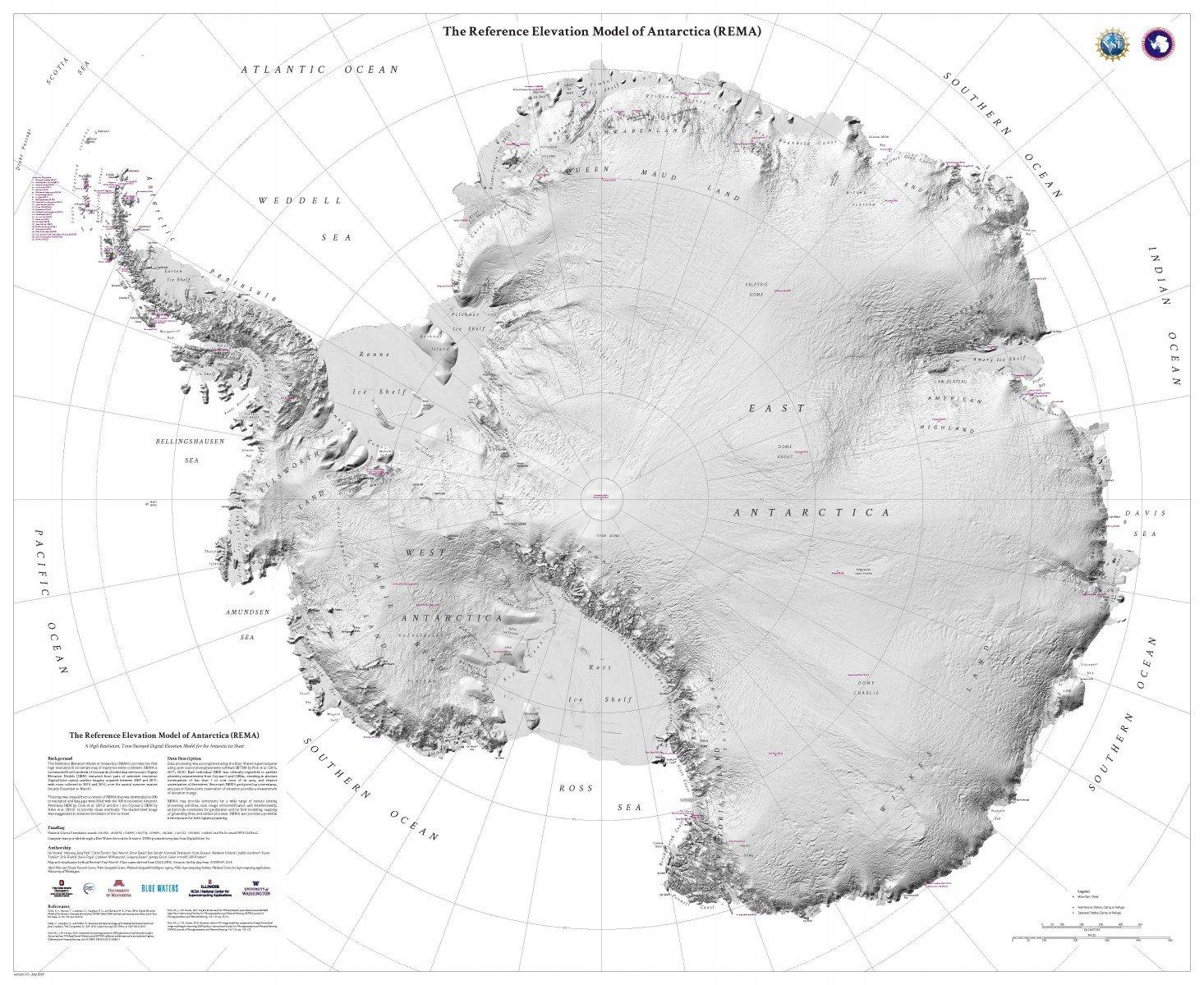 Nikada dosad nije viđena ovako precizna geografska karta Južnog pola