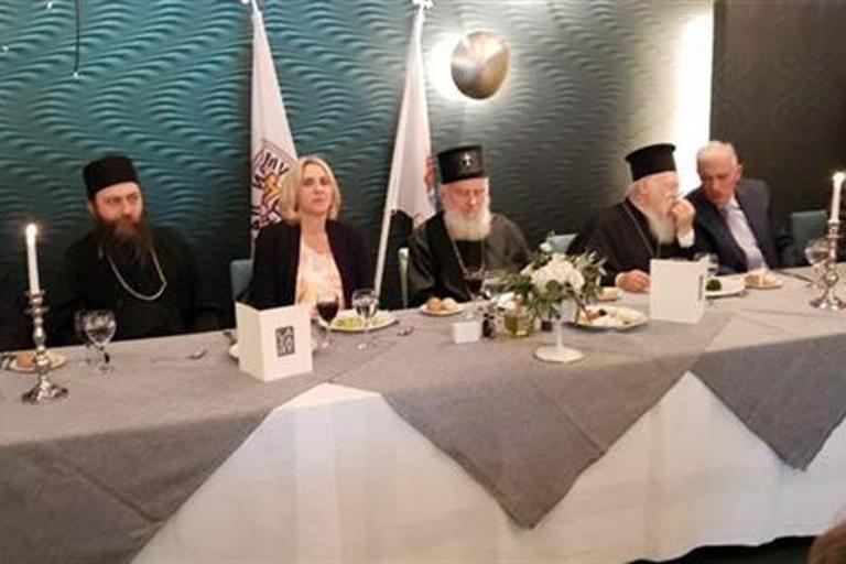 Cvijanovićeva na ručku dobrodošlice sa patrijarsima Irinejom i Vartolomejom