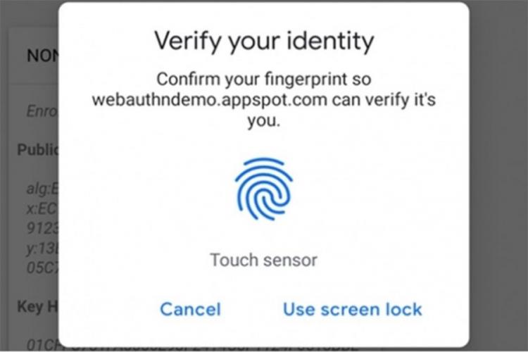 Chrome prihvata verifikaciju preko otiska prsta radi poboljšane sigurnosti