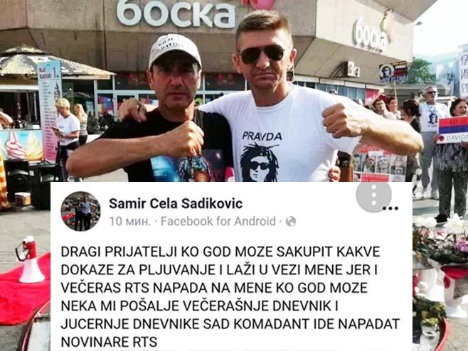"""Photo of Samir Cela Sadiković preko """"Fejsbuk"""" profila prijetio novinarima RTRS"""
