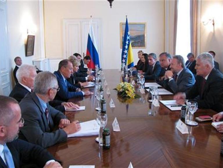 Lavrov počeo posjetu BiH sastankom sa članovima Predsjedništva