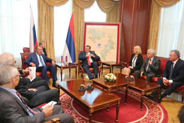 Dodik i Cvijanovićeva ispraćaju Lavrova