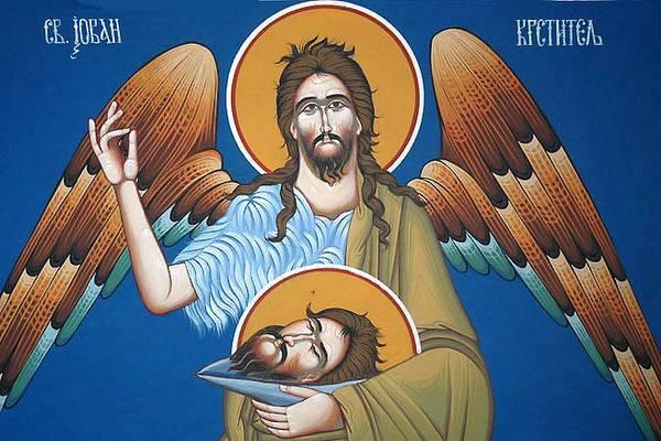 Danas Usjekovanje glave Svetog Jovana Krstitelja