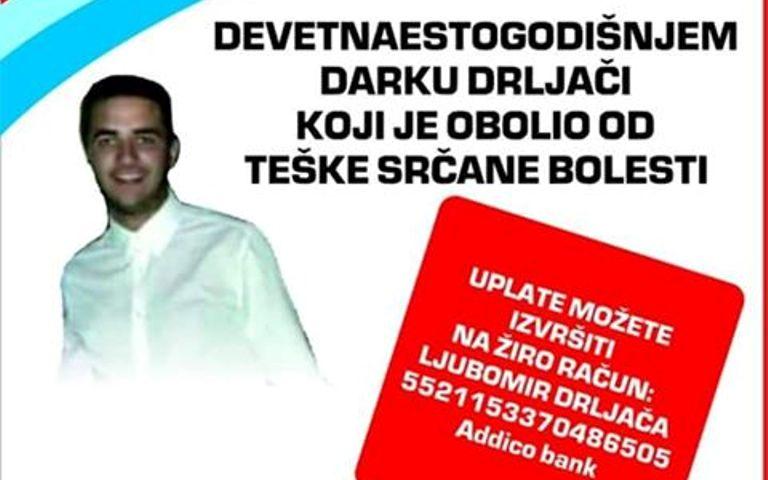 Photo of Devetnaestogodišnji Darko Drljača preminuo u Beogradu