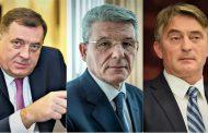 Dodik, Komšić i Džaferović čekaju ozvaničenje pobjede