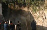 Aktivirano klizište na gradilištu u centru grada (video)
