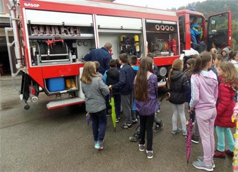 Milići: Osnovci posjetili vatrogasce