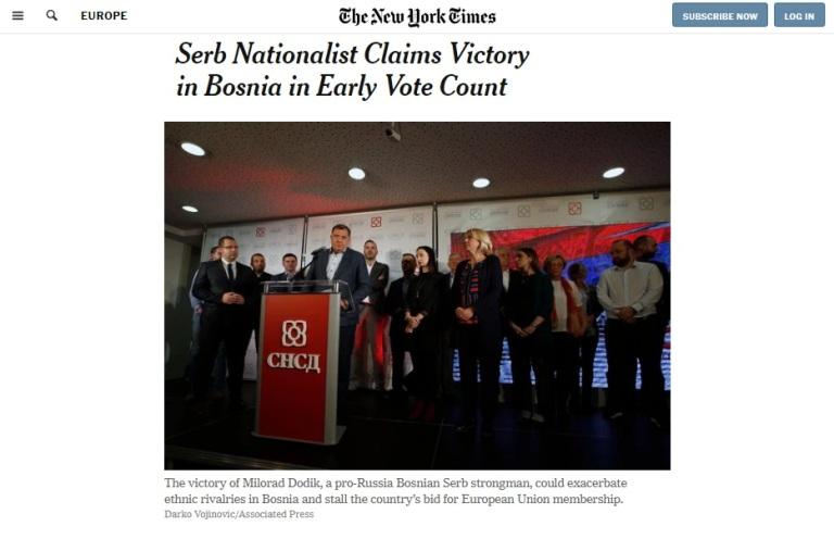 Zapadni mediji u Dodiku vide proruskog čovjeka i ukazuju na moguće komplikacije u napredovanju BiH ka EU i NATO