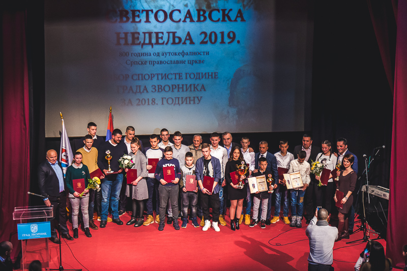 Photo of Vasilije Vujičić i Julijana Eleković sportista i sportistkinja godine grada Zvornika za 2018. godinu