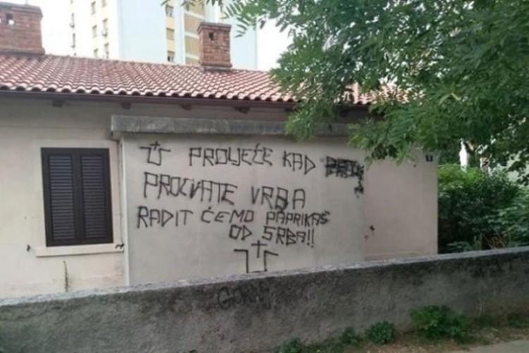 Kod Knina i Rijeke osvanuli grafiti protiv Srba