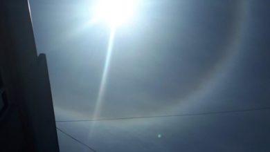 Photo of Oreol duginih boja oko Sunca iznad Zvornika