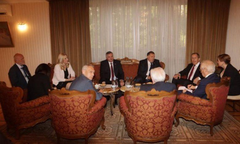 Photo of Zvaničnici Srpske sa Lavrovim u Beogradu