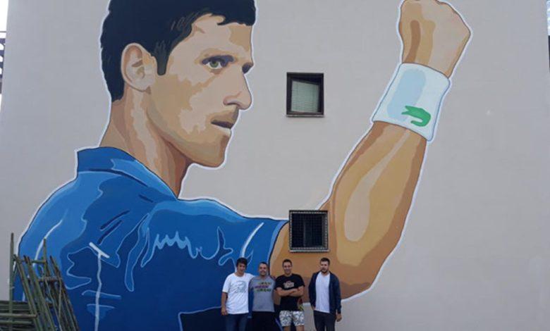 Photo of U Trnovu mural Novaka Đokovića visok osam metara