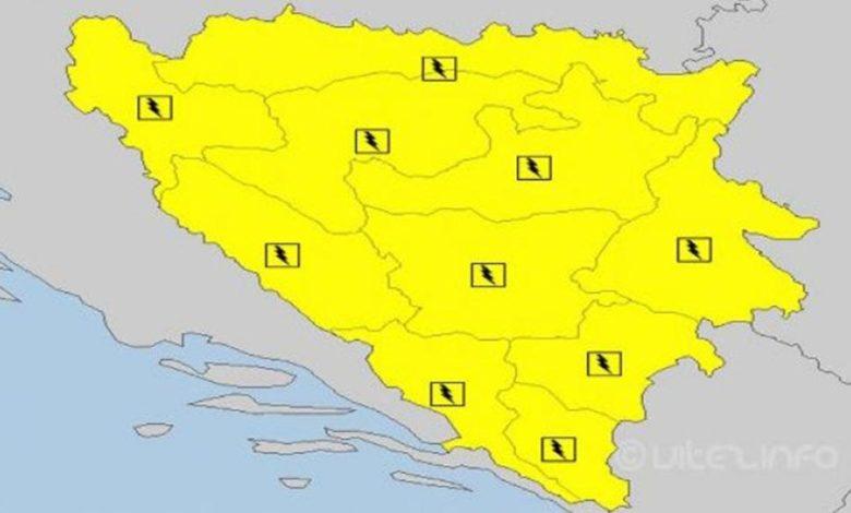 Photo of Upaljen žuti meteoalarm: Potencijalno opasno vrijeme