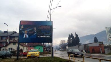 Photo of I u Šekovićima pano podrške Dodiku