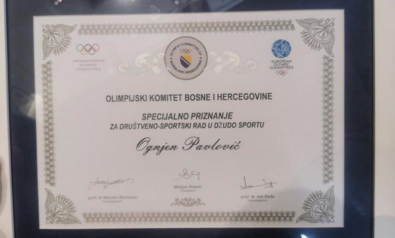 Photo of Pavlović dobitnik specijalnog priznanja za sportski rad