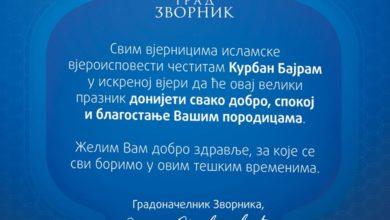 Photo of Gradonačelnik čestitao Kurban-bajram vjernicima islamske vjeroispovjesti