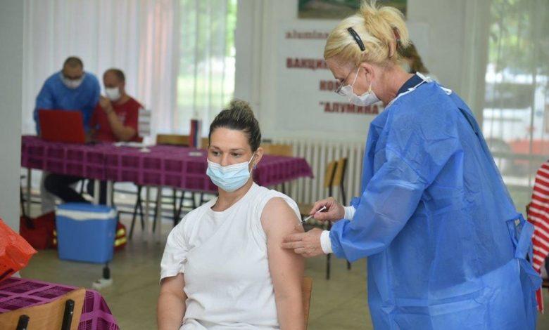"Photo of Masovna akcija vakcinacije radnika ""Alumine"" (foto/video)"